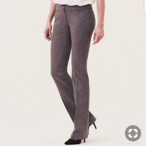 LOFT Marisa Boot Cut Dress Pants Herringbone 4